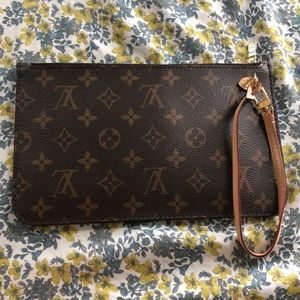 Louis Vuitton wristlet with inside pouch